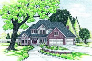 House Blueprint - Traditional Exterior - Front Elevation Plan #20-1001