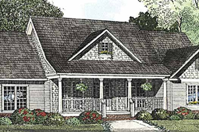 Architectural House Design - Country Exterior - Front Elevation Plan #17-3250