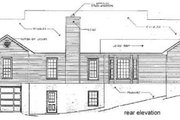 Traditional Style House Plan - 3 Beds 2 Baths 2218 Sq/Ft Plan #10-116 Exterior - Rear Elevation