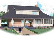 Southern Style House Plan - 3 Beds 2.5 Baths 2892 Sq/Ft Plan #81-773 Exterior - Rear Elevation