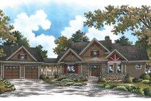 Craftsman Exterior - Front Elevation Plan #929-902