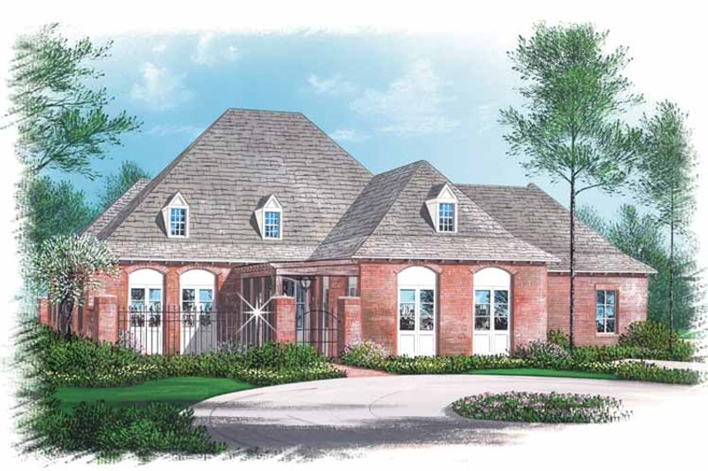 Country Exterior - Front Elevation Plan #15-373