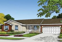 Country Exterior - Front Elevation Plan #417-540