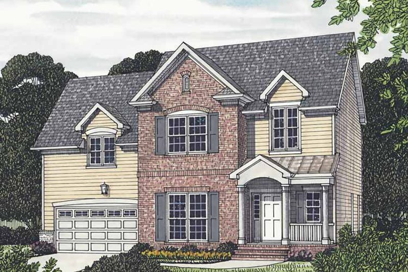 Traditional Exterior - Front Elevation Plan #453-518 - Houseplans.com