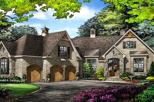 Country Exterior - Front Elevation Plan #929-1006