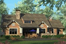 Architectural House Design - Craftsman Exterior - Rear Elevation Plan #453-611