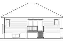 Contemporary Exterior - Rear Elevation Plan #23-2572
