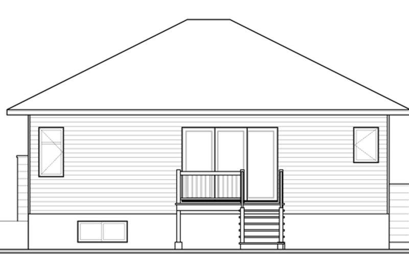 Contemporary Exterior - Rear Elevation Plan #23-2572 - Houseplans.com
