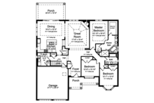 Colonial Floor Plan - Main Floor Plan Plan #46-866