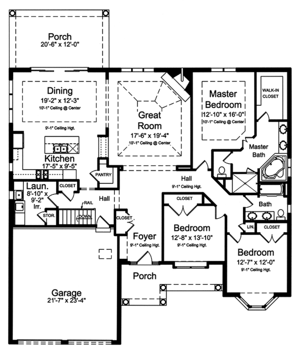 House Plan Design - Colonial Floor Plan - Main Floor Plan #46-866