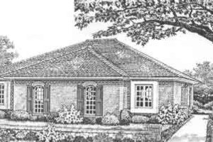 Cottage Exterior - Front Elevation Plan #310-442