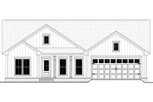 Dream House Plan - Farmhouse Exterior - Front Elevation Plan #430-209