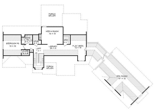 Traditional Floor Plan - Upper Floor Plan #932-341