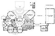 European Style House Plan - 5 Beds 5.5 Baths 6462 Sq/Ft Plan #417-448 Floor Plan - Main Floor Plan