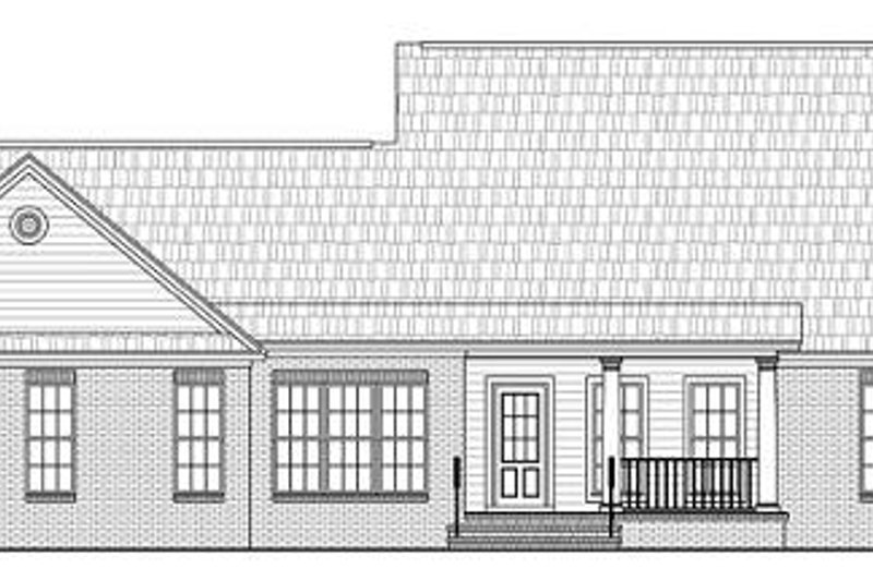 Ranch Exterior - Rear Elevation Plan #21-288 - Houseplans.com