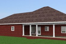 House Plan Design - Southern Exterior - Rear Elevation Plan #44-143