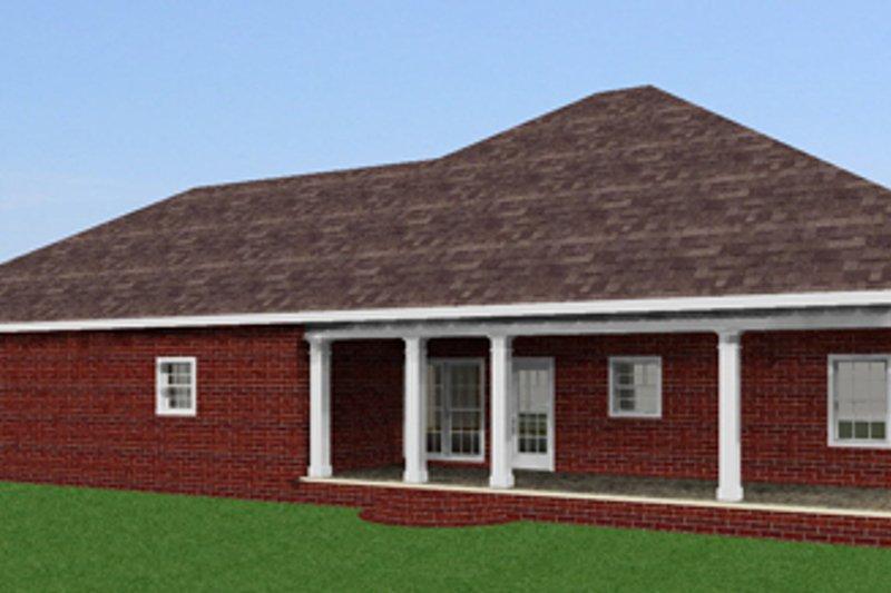 Southern Exterior - Rear Elevation Plan #44-143 - Houseplans.com