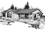 Ranch Style House Plan - 3 Beds 2 Baths 1812 Sq/Ft Plan #60-125 Exterior - Front Elevation