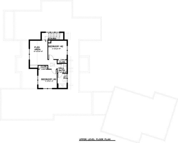Craftsman Floor Plan - Upper Floor Plan Plan #895-33