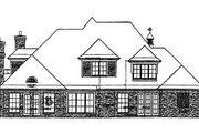 European Style House Plan - 4 Beds 3.5 Baths 3296 Sq/Ft Plan #310-560 Exterior - Rear Elevation