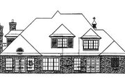 European Style House Plan - 4 Beds 3.5 Baths 3296 Sq/Ft Plan #310-560 Exterior - Rear Elevation