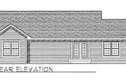 Traditional Style House Plan - 3 Beds 2 Baths 1274 Sq/Ft Plan #70-104 Exterior - Rear Elevation
