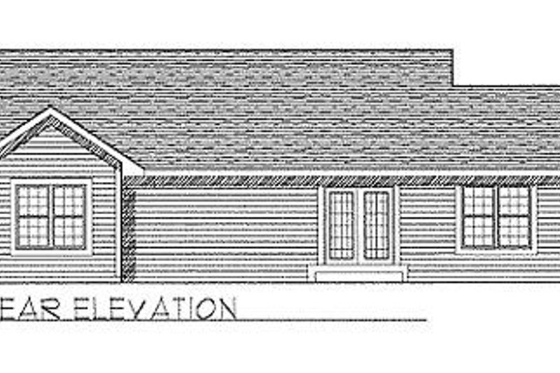 Traditional Exterior - Rear Elevation Plan #70-104 - Houseplans.com