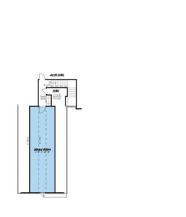 European Floor Plan - Other Floor Plan Plan #923-27
