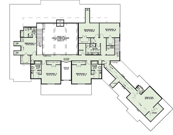 European Floor Plan - Upper Floor Plan Plan #17-2538
