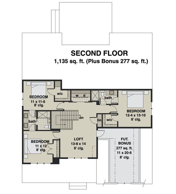 Dream House Plan - Farmhouse Floor Plan - Upper Floor Plan #51-1168