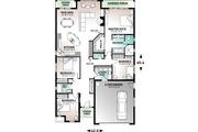 Mediterranean Style House Plan - 4 Beds 2.5 Baths 2052 Sq/Ft Plan #23-2215 Floor Plan - Main Floor Plan