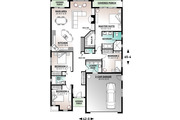Mediterranean Style House Plan - 4 Beds 2.5 Baths 2052 Sq/Ft Plan #23-2215 Floor Plan - Main Floor