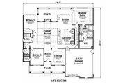 Ranch Style House Plan - 3 Beds 2 Baths 1946 Sq/Ft Plan #419-119 Floor Plan - Main Floor Plan