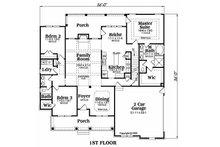 Craftsman style Plan 419-119 main floor