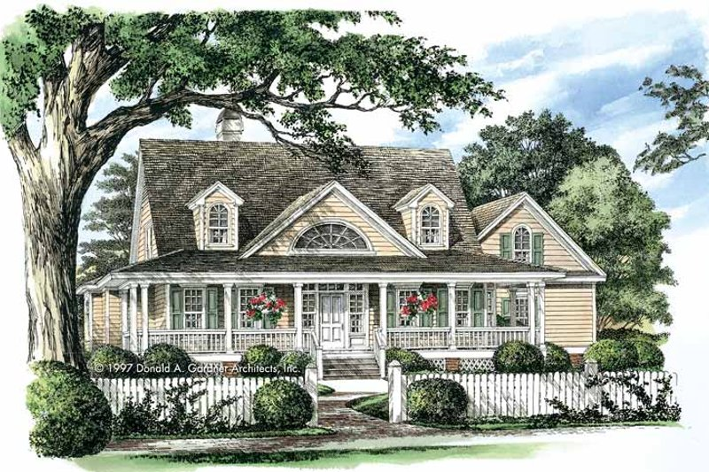 Dream House Plan - Country Exterior - Front Elevation Plan #929-392