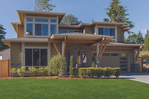 Dream House Plan - Contemporary Exterior - Front Elevation Plan #132-564