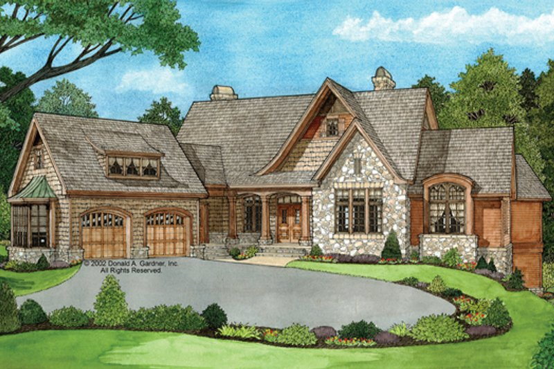 European Exterior - Front Elevation Plan #929-894 - Houseplans.com