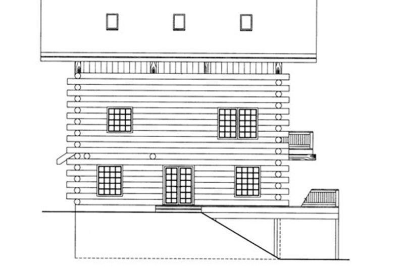 Log Exterior - Rear Elevation Plan #117-825 - Houseplans.com