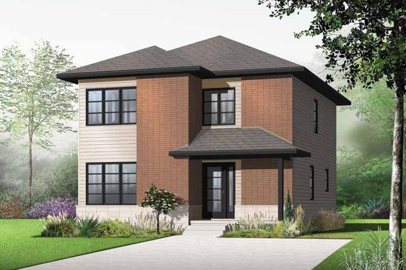 Contemporary Exterior - Front Elevation Plan #23-2553 - Houseplans.com