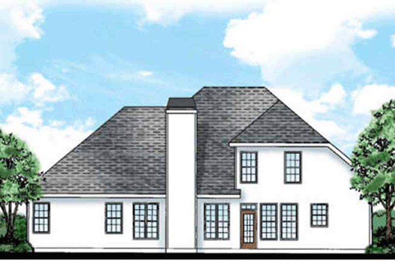 Country Exterior - Rear Elevation Plan #927-620 - Houseplans.com