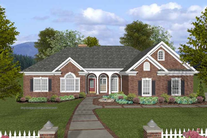 House Plan Design - Traditional Exterior - Front Elevation Plan #56-683