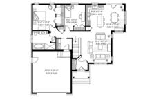 European Floor Plan - Main Floor Plan Plan #23-2535