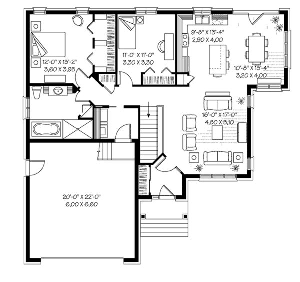European Floor Plan - Main Floor Plan Plan #23-2535