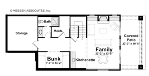 Traditional Floor Plan - Lower Floor Plan Plan #928-192