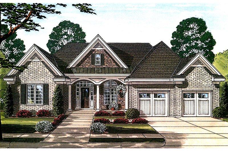 House Plan Design - European Exterior - Front Elevation Plan #46-858