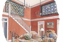 Home Plan Design - Classical Interior - Entry Plan #429-209