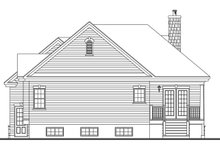 Home Plan - Country Exterior - Rear Elevation Plan #23-2573