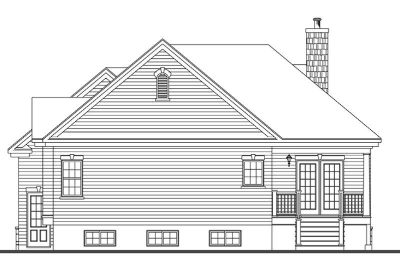 Country Exterior - Rear Elevation Plan #23-2573 - Houseplans.com