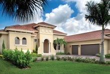 Architectural House Design - Mediterranean Exterior - Front Elevation Plan #930-446