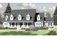 Colonial Exterior - Front Elevation Plan #328-460